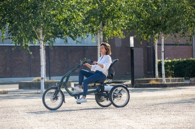 tricycle with seating and low step through easy rider